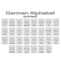 set of monochrome icons with german alphabet vector image vector image