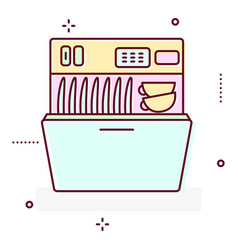 washing machine line style icon vector image