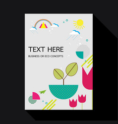 Eco geometric flat design background template vector