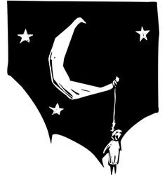 Hung Moon vector image vector image