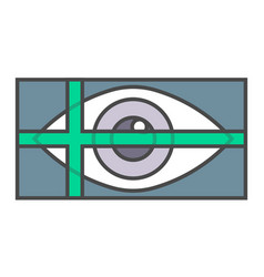 Retina scan system pictogram vector