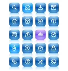 Stencil blue buttons for internet vector image vector image