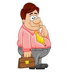 Stupid businessman vector image