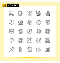 25 thematic lines and editable symbols of vector