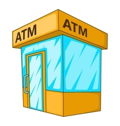 ATM icon cartoon style vector