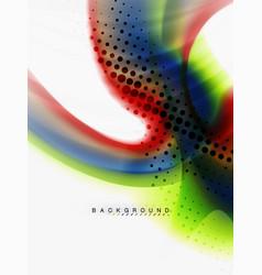 Background abstract color flow liquid design vector