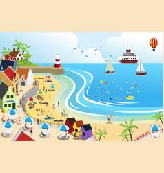 beach town vector image