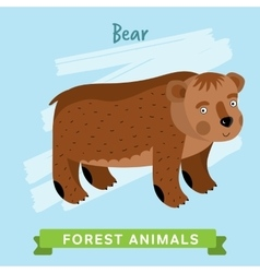 Bear forest animals vector image