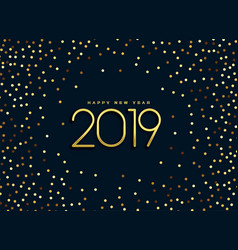 beautiful 2019 golden glitter background vector image