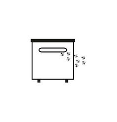 beehive online icon vector image
