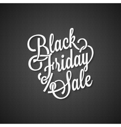 black friday vintage lettering background vector image