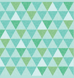 Blue and green triangle and leaves texture vector