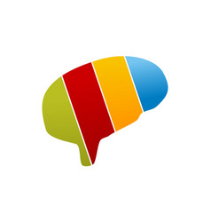 brain colorful logo design template vector image