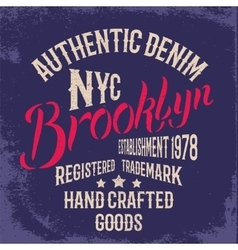 Brooklyn City print design vector image