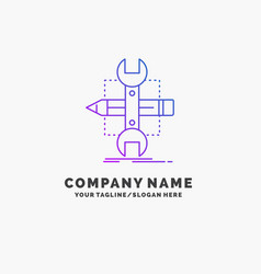 Build design develop sketch tools purple business vector
