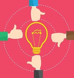 Businessman Like Concept Bulb Light Idea vector