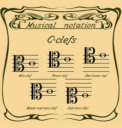 C-clefs vector