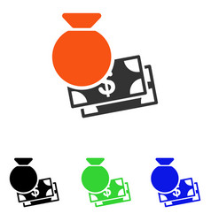 Capital flat icon vector