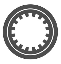 Car clutch plate solid icon car disc vector