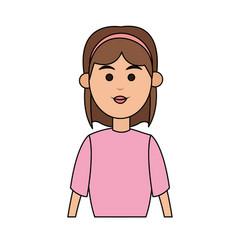 cartoon woman profile vector image