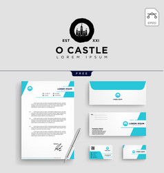 castle logo template vector image