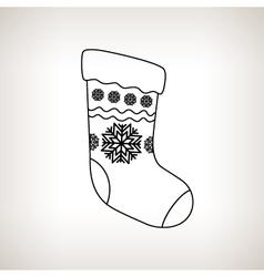 Christmas Sock on a Light Background vector