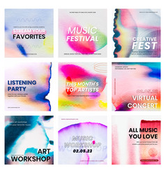 Chromatography colorful music template event vector