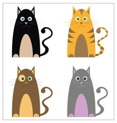 Clever cat icons vector