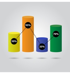 color pie chart - with text vector image