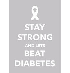 Diabetes poster vector