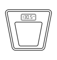 digital scale icon vector image