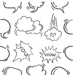 doodle of text balloon style hand draw vector image