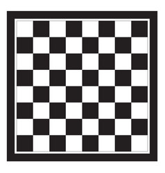 Empty chess board top view chessboard black and vector