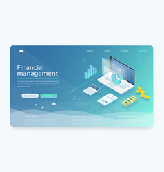 financial management concept vector image
