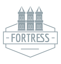 Fortress logo simple gray style vector
