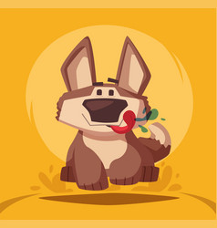 funny dog cartoon vector image