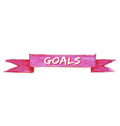 Goals ribbon vector
