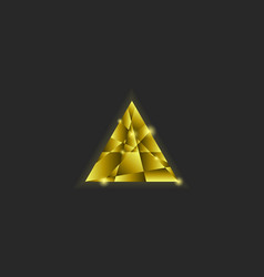 Golden triangle logo shiny multilayer vector