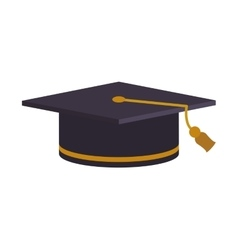 Graduation cap university learning study icon vector