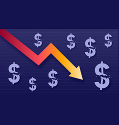 graph show value loss of dollar modern trendy vector image