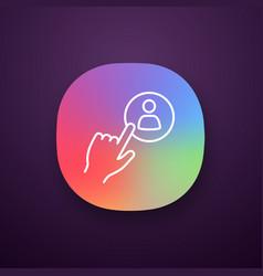 Hiring staff button app icon vector