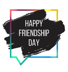 International day of friendship banner vector