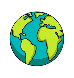 isolated earth icon image earth day vector image