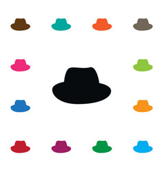 Isolated fedora icon panama element can be vector