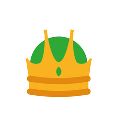 Isolated king green and gold crown design vector