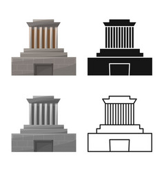 Isolated object building and mausoleum symbol vector