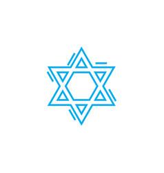 Jewish symbol linear icon concept jewish symbol vector
