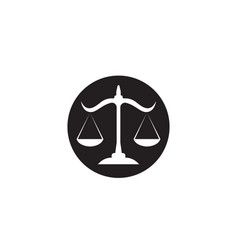 justice lawyer logo and symbols template icons app vector image
