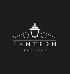Lantern logo design vector