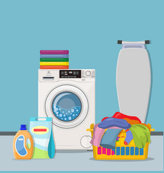 laundry room service concept vector image